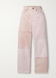 Acne Studios Net Sustain 1993 Frayed Patchwork Organic High-rise Straight-leg Jeans