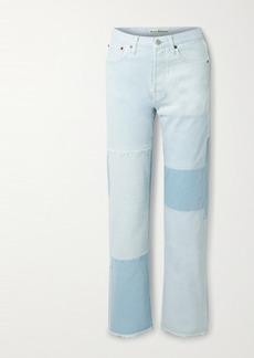 Acne Studios Net Sustain 1996 Frayed Patchwork Organic High-rise Straight-leg Jeans