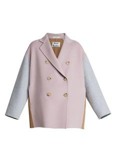 Acne Studios Odine Colorblock Wool & Cashmere Peacoat