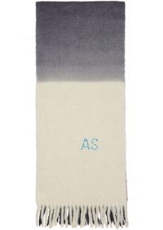 Acne Studios Off-White & Grey Kelow Tie Dye Scarf