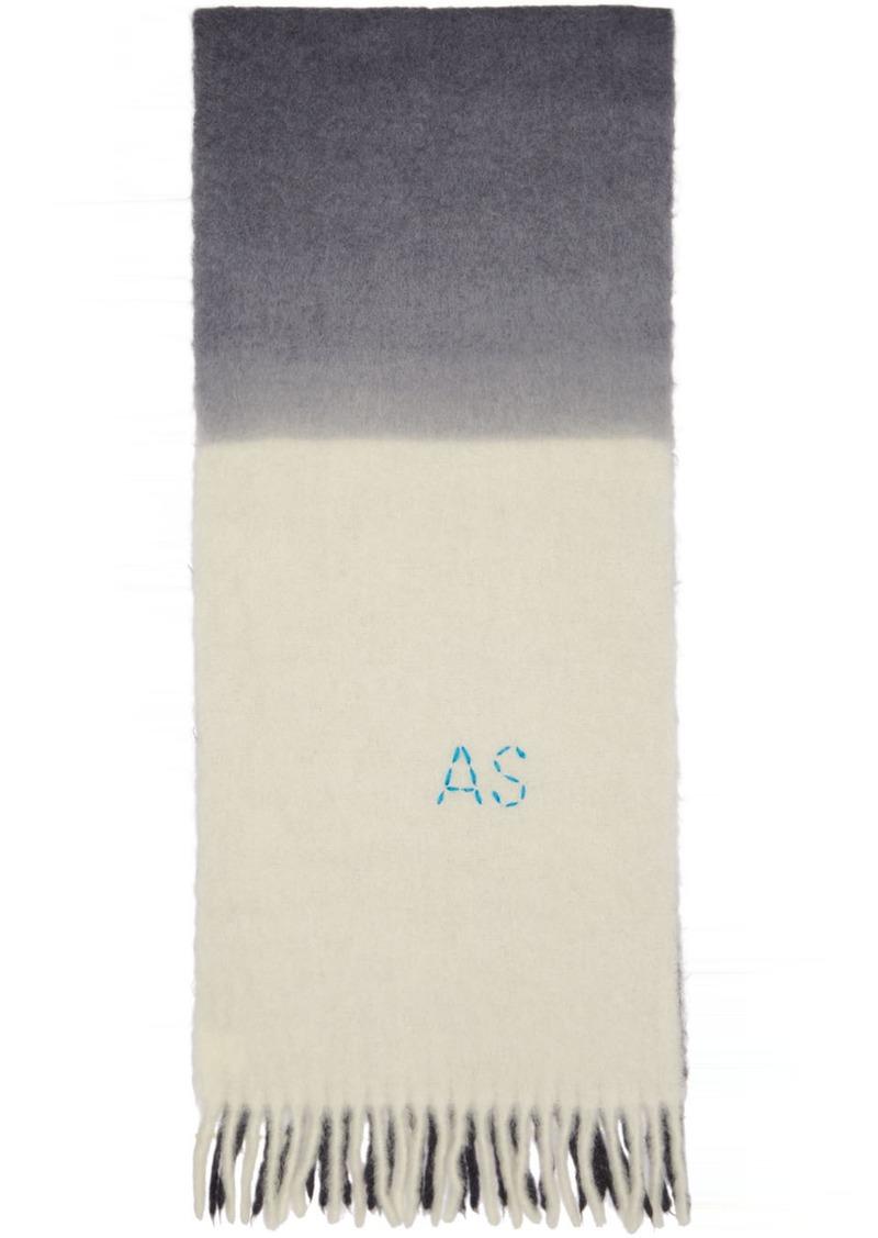 Off-White & Grey Kelow Tie Dye Scarf