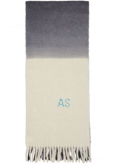 Acne Studios Off-White & Grey Kelow Tie Dye Scarf