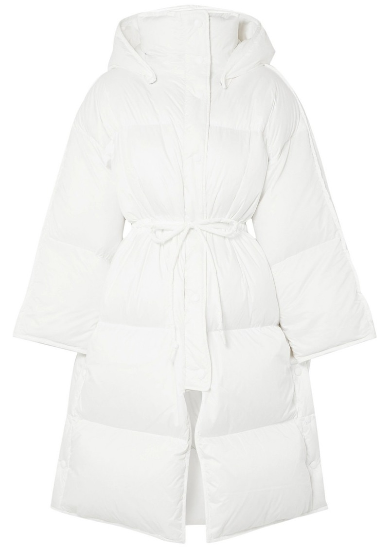 Acne Studios Ottie Oversized Hooded Quilted Shell Down Coat