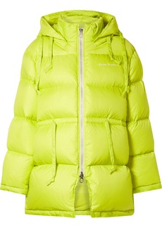 Acne Studios Oversized Hooded Quilted Neon Shell Down Jacket