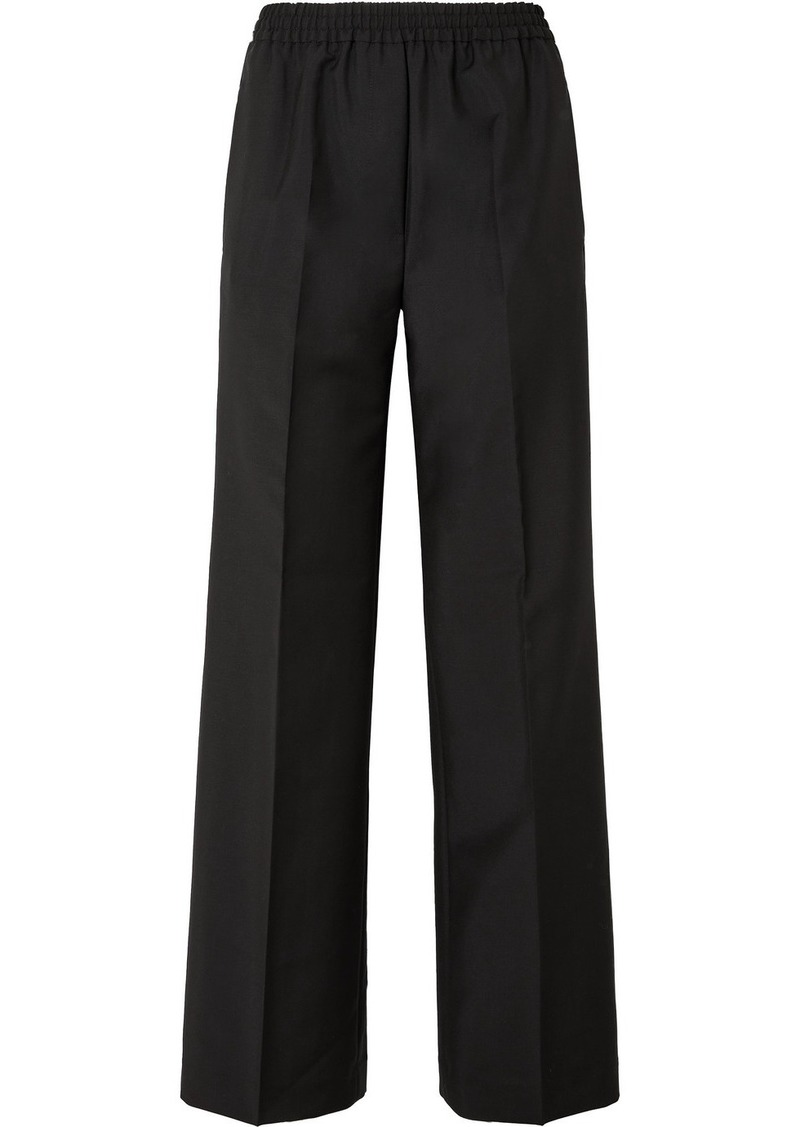 Acne Studios Pammy Wool And Mohair-blend Wide-leg Pants