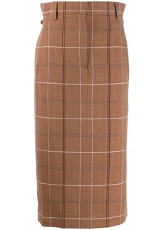 Acne Studios paper-bag checked skirt
