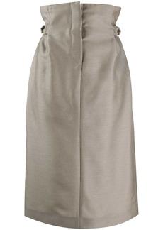 Acne Studios paper-bag skirt