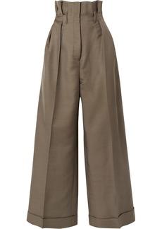 Acne Studios Perrie Wool-blend Twill Wide-leg Pants