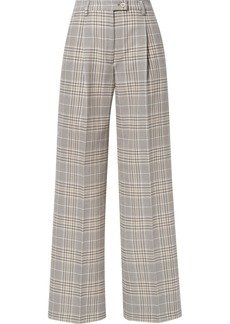 Acne Studios Pina Checked Cotton-blend Wide-leg Pants