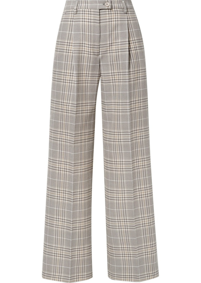 Acne Studios Pina Checked Cotton-blend Wide-leg Pants