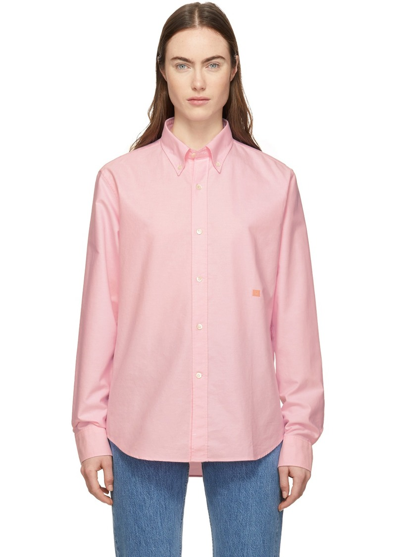 Acne Studios Pink Ohio Face Shirt