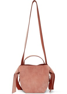 Acne Studios Pink Suede Mini Musubi Bag