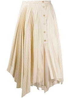 Acne Studios pinstripe asymmetric skirt