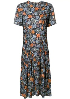 Acne Studios pintucked floral dress