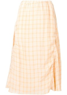 Acne Studios plaid flared skirt