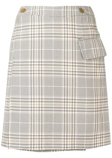 Acne Studios plaid mini skirt