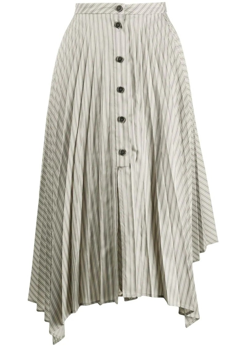 Acne Studios pleated asymmetric skirt