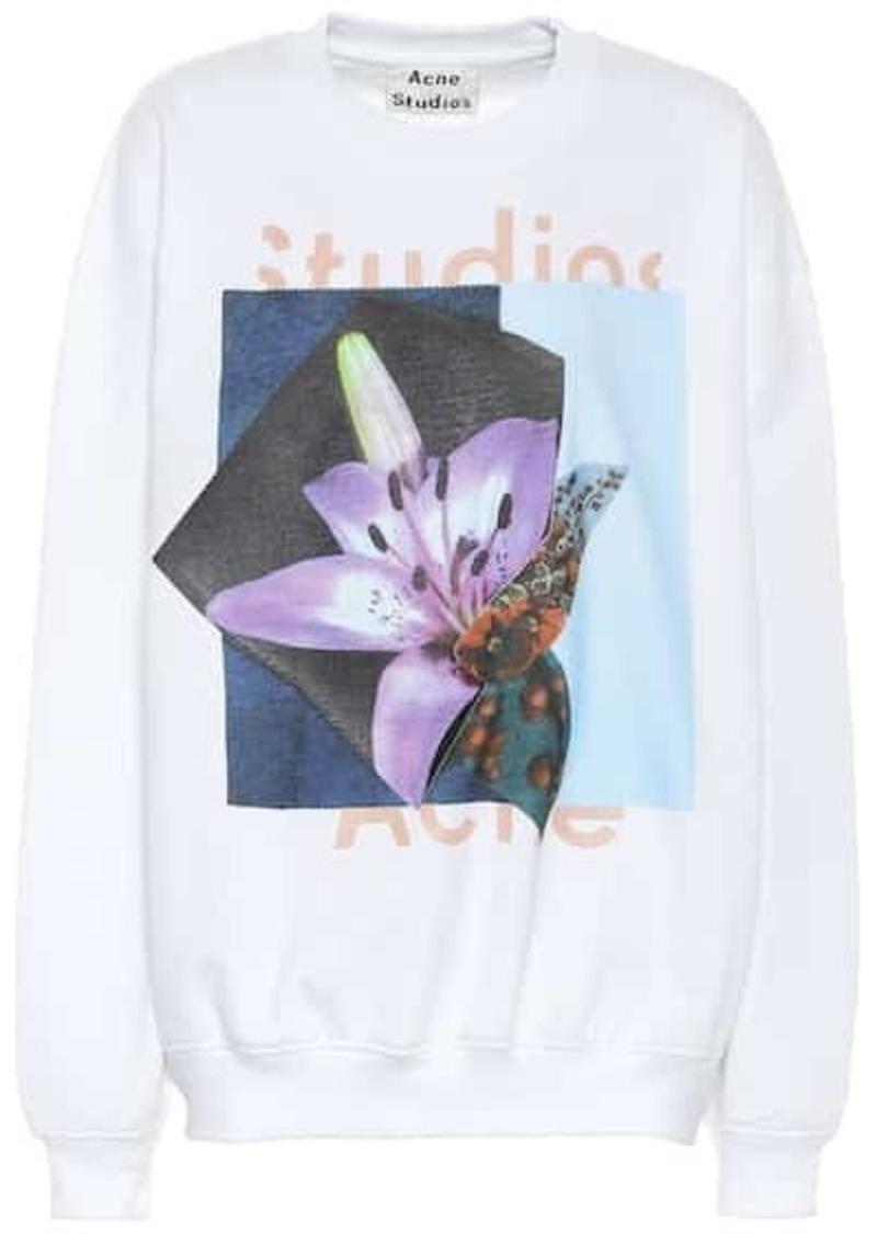 Acne Studios Printed cotton-blend sweatshirt