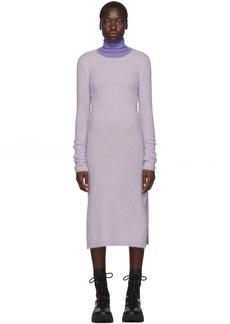 Acne Studios Purple Mohair Kathilde Dress