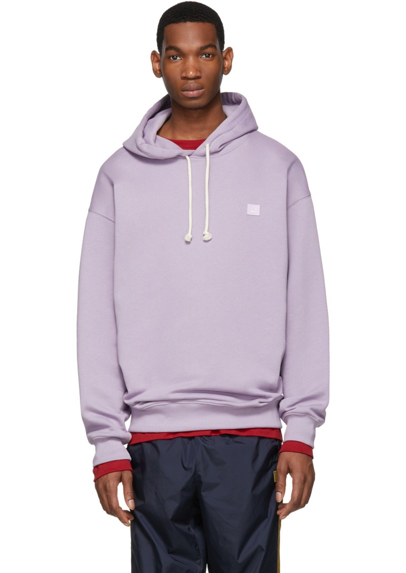 wide selection of colours and designs 100% authentic high quality guarantee Acne Studios Purple Oversized Farrin Face Hoodie | Sweaters