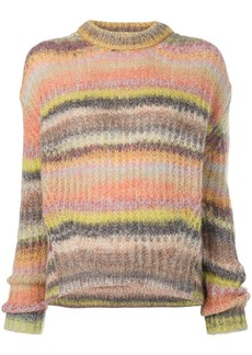 Acne Studios rainbow rib knit sweater