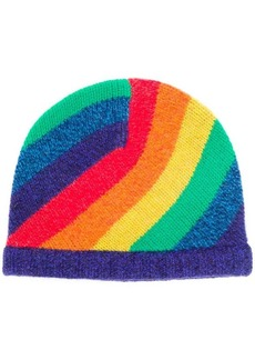 Acne Studios rainbow striped beanie