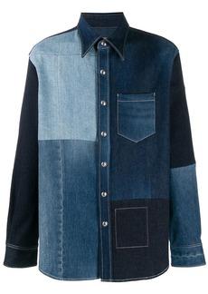 Acne Studios Recrafted patchwork denim shirt