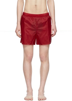 Acne Studios Red Warrick Swim Shorts