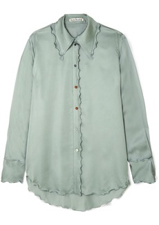 Acne Studios Ruffled Satin Shirt