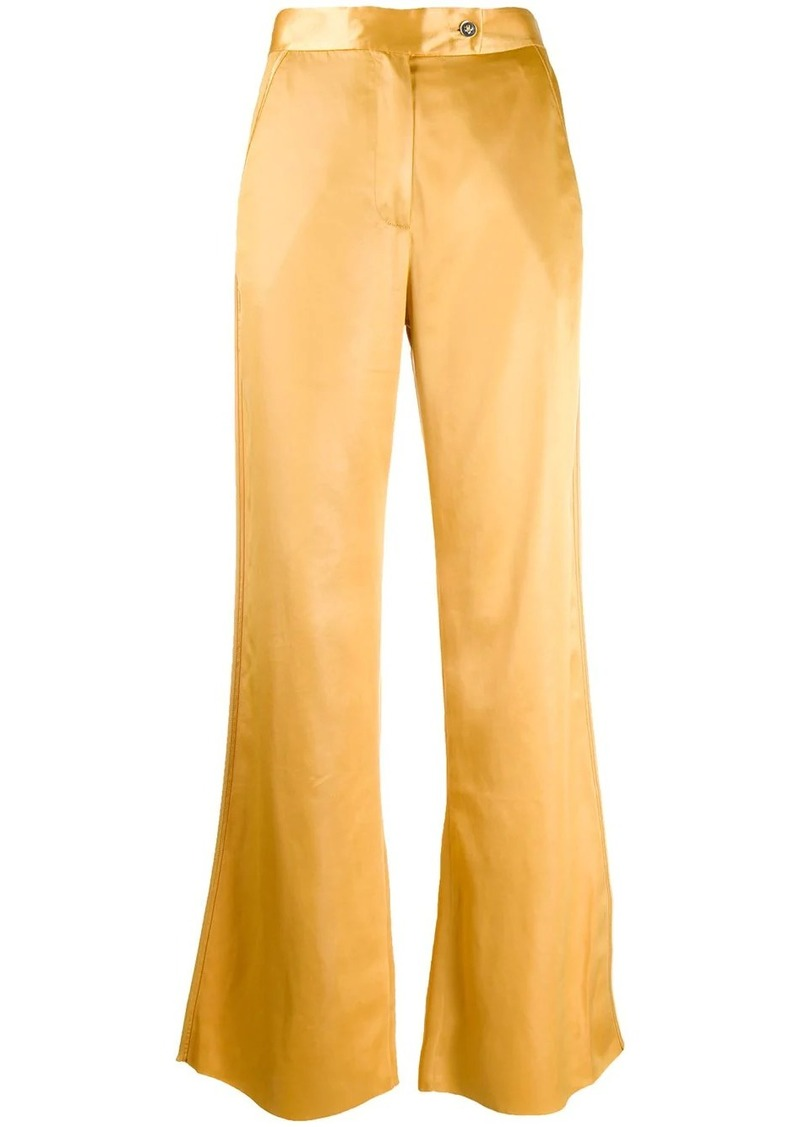 Acne Studios satin flared trousers