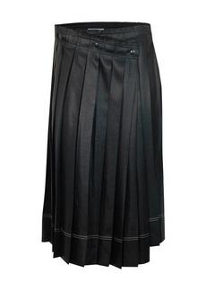 Acne Studios Satin pleated skirt