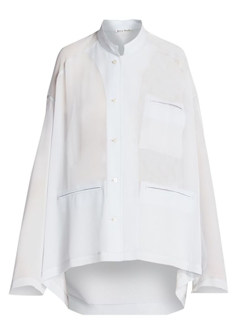 Acne Studios Shana Georgette Pocket Shirt