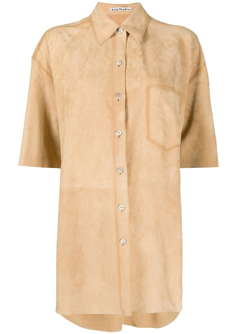 Acne Studios short-sleeve suede shirt
