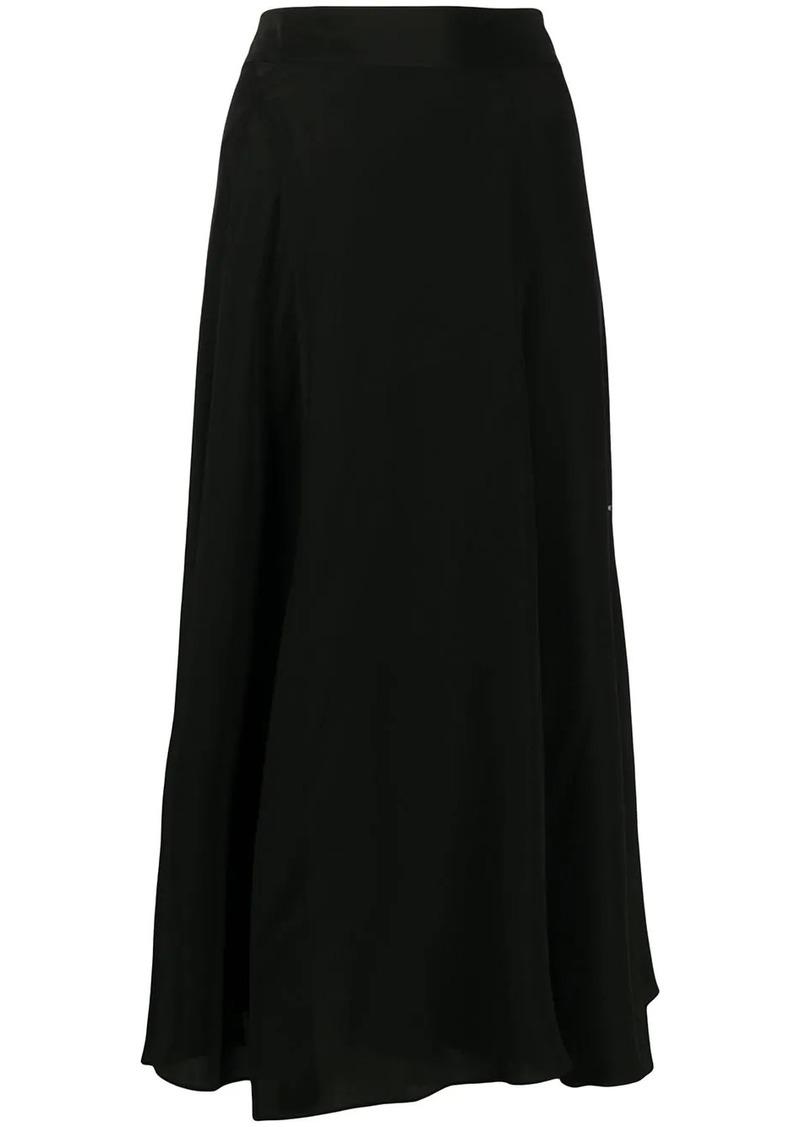 Acne Studios silk-crepe midi skirt