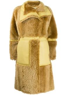 Acne Studios single breasted shearling coat