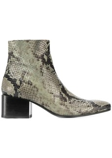 Acne Studios snake print ankle boots
