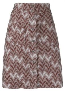 Acne Studios straight jacquard skirt