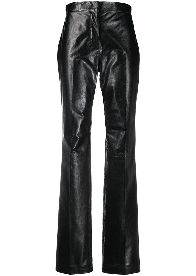 Acne Studios straight-leg leather trousers