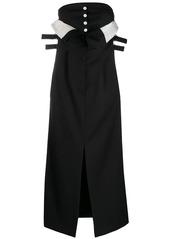 Acne Studios strapless paper-bag dress