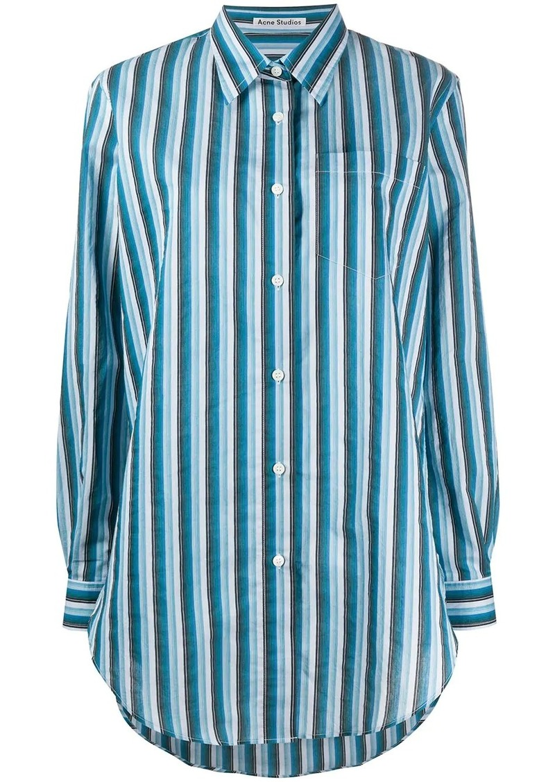 Acne Studios striped button up shirt