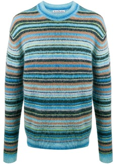 Acne Studios striped crew neck jumper