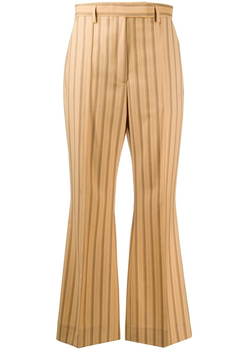 Acne Studios striped cropped trousers