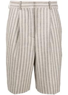 Acne Studios striped knee-length shorts