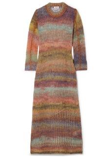Acne Studios Striped Open-knit Midi Dress