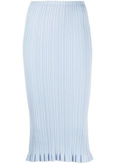 Acne Studios ribbed knit midi skirt
