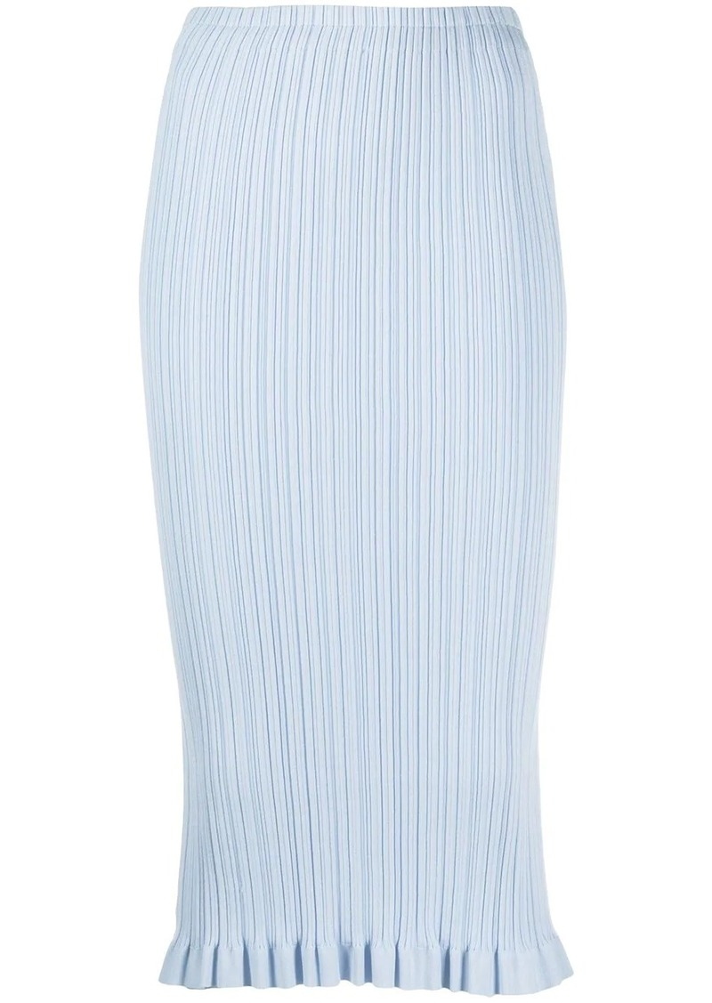 Acne Studios textured fitted pencil skirt