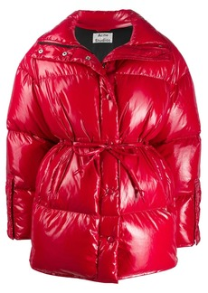 Acne Studios tie waist puffer jacket