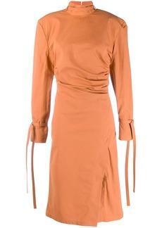 Acne Studios twisted pleats dress