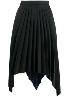 Acne Studios two print pleated A-line skirt
