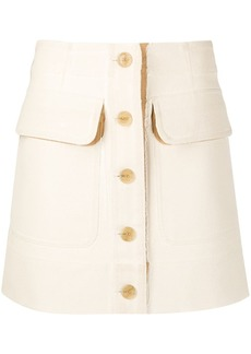 Acne Studios two-tone buttoned mini skirt